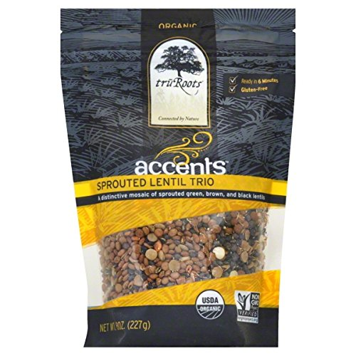 Truroots Organic Accents Sprouted Lentil Trio, 8 Ounce - 6 per case. by truRoots