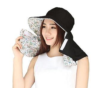 b8ef45fb951 Women Sun Cap Flap Hats 360° Sun Shade Neck Face Protection Outdoor Sports  Visor Hats