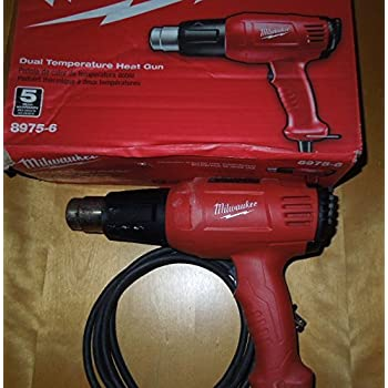 milwaukee electric tool milwaukee 2688 20 cordless heat gun  milwaukee 8975 6 11 6 amp 570 1000 degree fahrenheit dual temperature heat gun