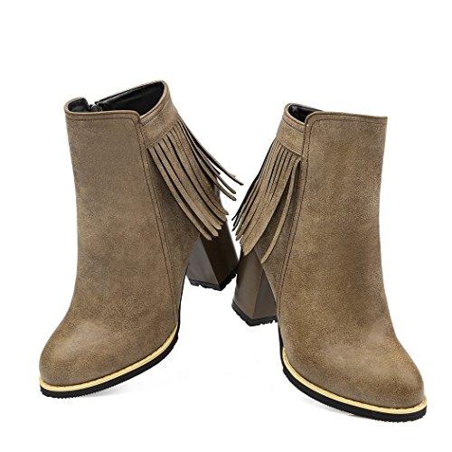 fringe señalaron In Estados Unidos tacones zapatos los y botas ZQ color inicio gruesas QXEuropa código nUxfwz