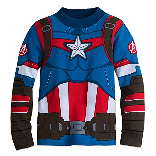 Marvel Captain America Costume PJ PALS for Boys Size 3 Multi - http://coolthings.us