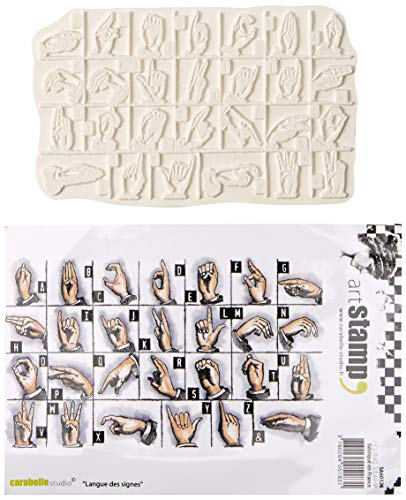 Sign Rubber Stamps Language - Carabelle Studio Sign Language Cling Stamp A6