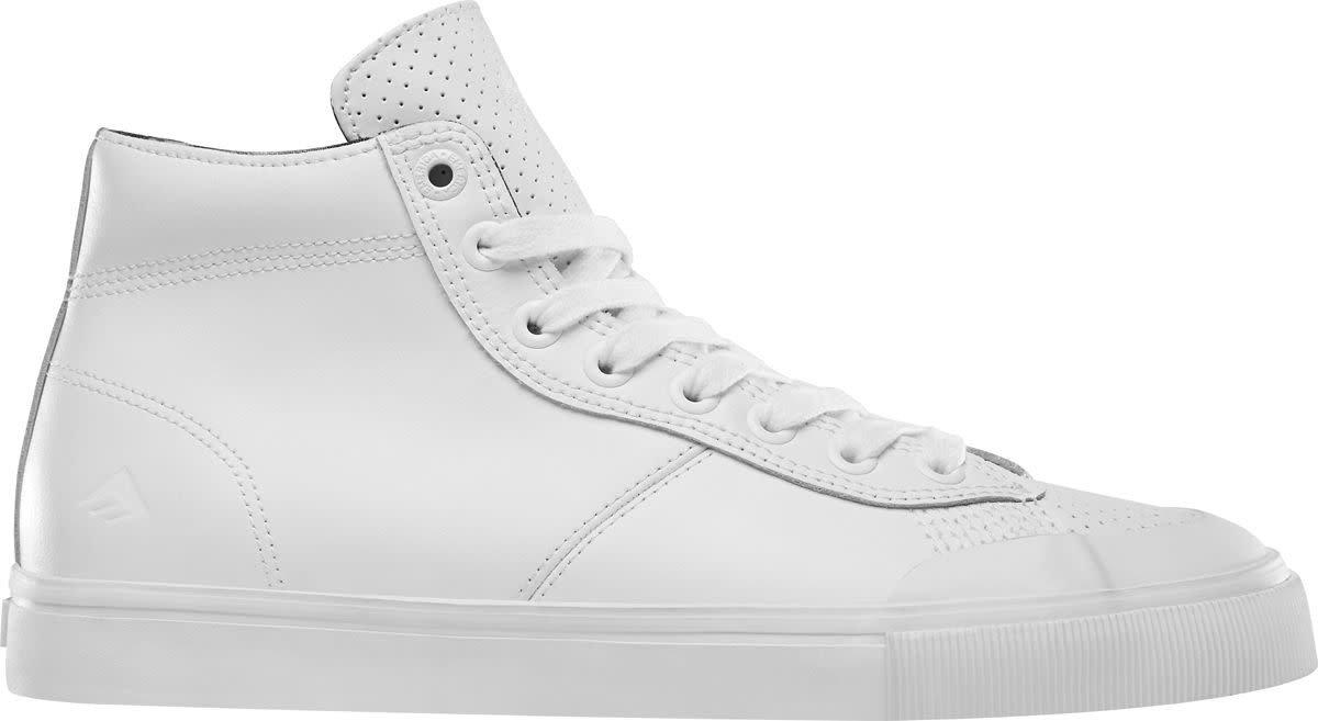 Emerica Men's Indicator High Skate Shoe 5 D(M) US|White/Print