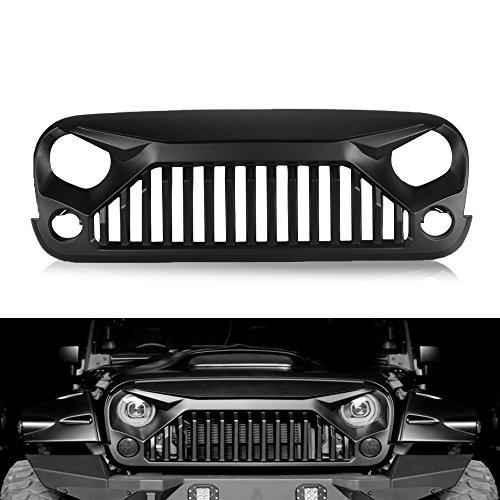 AUXMART Jeep Wrangler Grille Gladiator Vader Grille for Jeep 07-16 JK Wrangler Matte Black