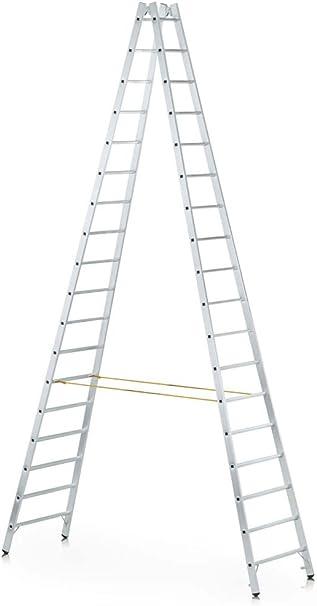 Zarges Z600 - Escalera de mano (2 x 20 peldaños): Amazon.es: Bricolaje y herramientas