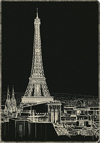 Studio Oh! Hardcover Deconstructed Sketchbook Available in 4 Different Designs, Eiffel Tower