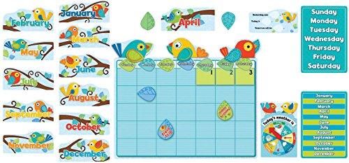Carson-Dellosa Boho Birds Calendar Bulletin Board Set, For Use With Grades P - 3 (ages 4-8), Set of 78