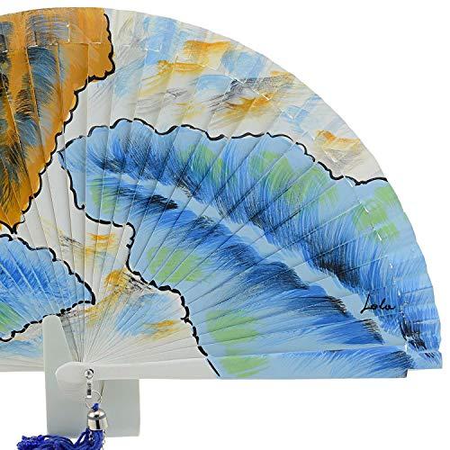 aire madera de distinto azul Ventilador x7Hwzw