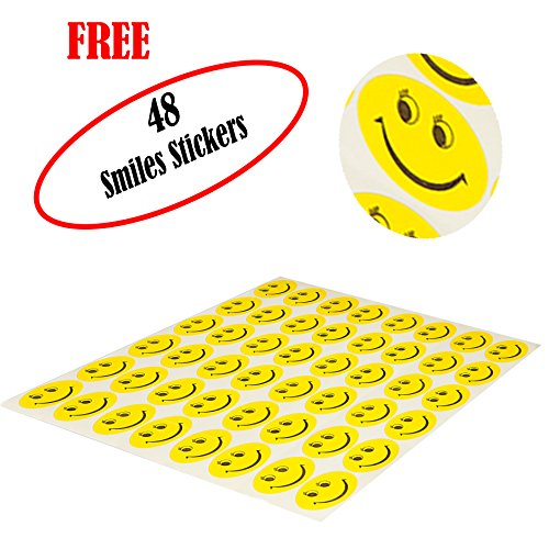 Flyspro 100 Phthalate BPA Free Crush Proof Plastic Balls, Variety of Colors, With A Zipper Bag. FREE BONUS: 48 Fun Smiley Stickers for Children to Enjoy By by Flyspro (Image #4)