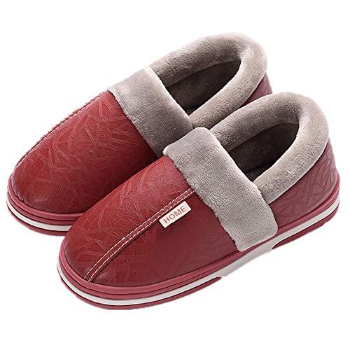Calde Ciabatte Pantofole Autunno Invernali Donna 2 Rosso Inverno Tqgold Scarpe Uomo qwaTOfA