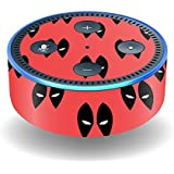 MightySkins Skin For Amazon Echo Dot (2nd Gen) - Dead Eyes Pool | Protective, Durable, and Unique Vinyl Decal wrap cover | Easy To Apply, Remove, and Change Styles | Made in the USA