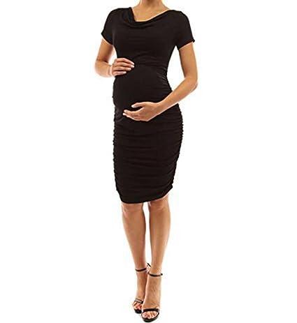 Ropa Embarazadas Elegante AIMEE7 Vestido De Manga Corta Mujer Embarazada: Amazon.es: Ropa y accesorios