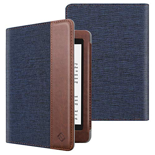 Fintie Folio Case for All-New Kindle Paperwhite (10th Generation, 2018 Release) - Book Style Premium Fabric Shockproof Cover with Auto Sleep/Wake for Amazon Kindle Paperwhite E-Reader, Denim Indigo