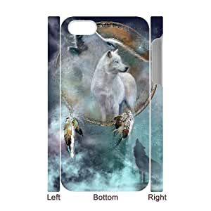 J-LV-F Diy hard Case Wolf Dream Catcher customized 3D case For Iphone 4/4s