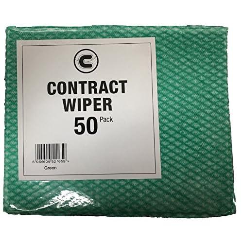 Lot de 50 chiffons nettoyants multi-usages perforés verts style J-Cloths - A 80%OFF