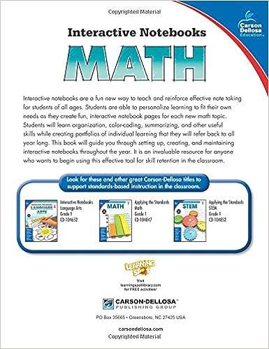 Amazon.com: Math, Grade 1 (Interactive Notebooks) (9781483824628 ...
