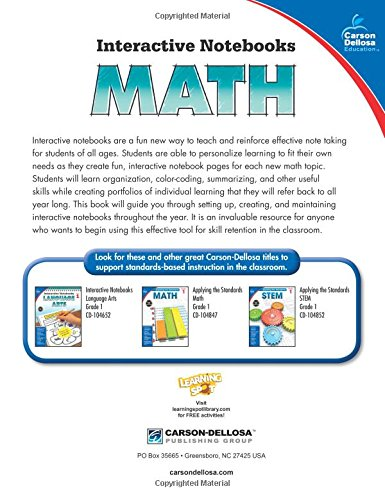Amazon.com: Math, Grade 1 (Interactive Notebooks) (9781483824628 ...
