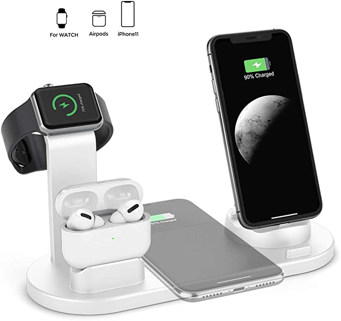 HSYTEK 4 in 1 Wireless Charging Station Dock