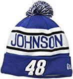 NASCAR Hendrick Motorsports Jimmie Johnson Biggest Fan Redux Pom Knit Beanie, One Size, Blue