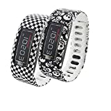 Dingtool Large Replacement Wrist Band with Clasp for Garmin Vivofit Only/ Wireless Activity Band Wristband / Garmin Vivofit Bracelet Sport(No tracker, Replacement Bands Only)(set3-2pcs Large)