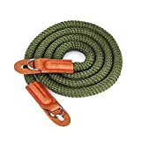 Digital Camera Strap Eorefo [Rope Series] Soft Cotton Shoulder Neck Belt Strap for Leica Canon Nikon Fuji Olympus Lumix Sony,Dark green.