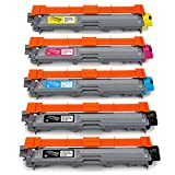 Office World Compatible Toner Cartridge Replacement for Brother TN221 TN-221 TN225 TN-225 (2 Black, 1 Cyan, 1 Magenta, 1 Yellow),Work with Brother HL-3140CW HL-3170CDW MFC-9130CW MFC-9330CDW