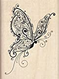 "Inkadinkado Mounted Rubber Stamp 3""X2.25""-Butterfly"