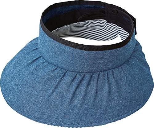 コジット 装飾雑貨(ファッション小物) ブルー 頭囲56~58cm対応 UV99%カット デニム バイザー