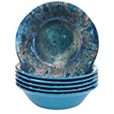 Certified International Radiance Teal Melamine 7.5'' All Purpose Bowl, Set of 6