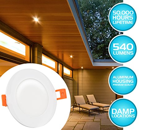 Westgate Lighting 9W 4'' Inch Ultra Thin Slim LED Recessed Light - Dimmable Retrofit Downlight Smooth Trim - Junction Box Included - No Housing Required - Ceiling Lights (4 Pack, 4000K Neutral White) by Westgate (Image #8)
