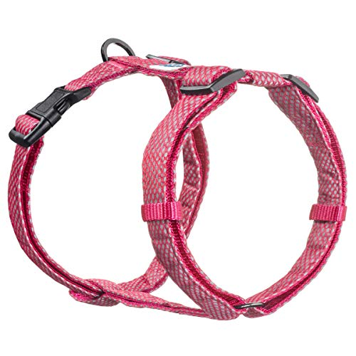 Embark Illuminate Reflective Dog Harness - Easy On and Off, No Choke Dog Walking Harness - Be Seen from All Angles - Dog Harnesses for Most Breeds (Medium, Pink)