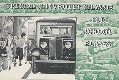 Amazon com: 1935 Chevrolet School Bus Brochure