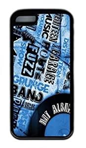 discount cover vintage music TPU Black Case for iphone 5C
