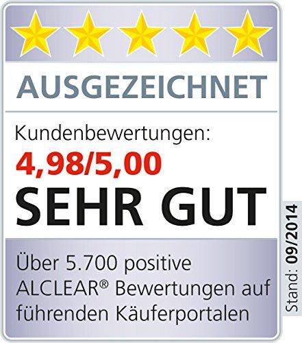 ALCLEAR 4er Set Abschminktücher Abschminkpads aus hautfreundlicher Ultra-Microfaser bei Hautreizungen und Allergien - dermatologisch rein
