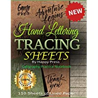 Image for Hand Lettering Tracing Sheets: Calligraphy Practice Notebook, 110 Sheets of Lined Paper