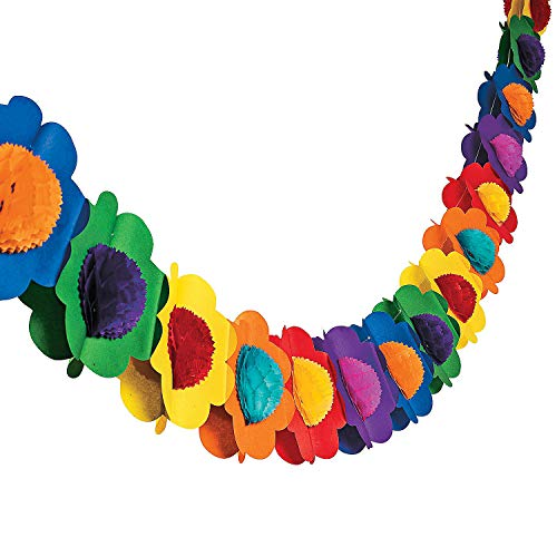 Fun Express Multicolor Tissue Flower Garland Novelty]()