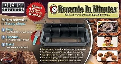Kitchen Solutions Brownie en minutos, perfecto para cocinar ...