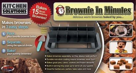 Brownie in Minutes - Perfect Brownie Cooking - 3 Easy (Perfect Brownie Pan)