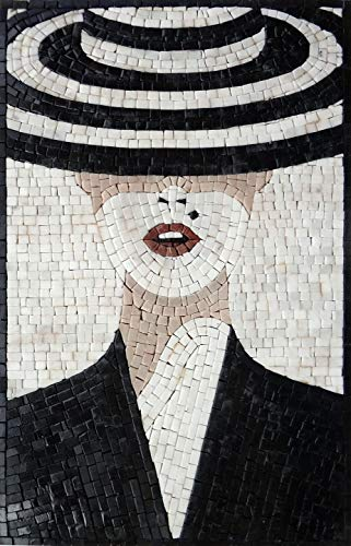 (Mosaics Lab Holly Goes Lightly | Masterpiece Mosaics Art Studio | Hand-Cut and Handmade with 100% Natural Marble | This Masterpiece is Great As Wall Art | Perfect for Any Office Or Living Space.)
