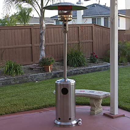 Stainless Steel Outdoor Patio Heater Propane LP Gas Commercial Restaurant  New