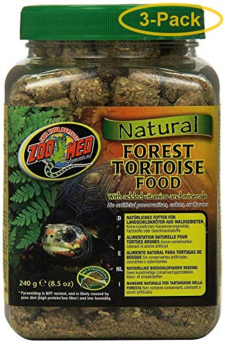 Zoo Med Natural Forest Tortoise Food 8.5 oz - Pack of 3 ()