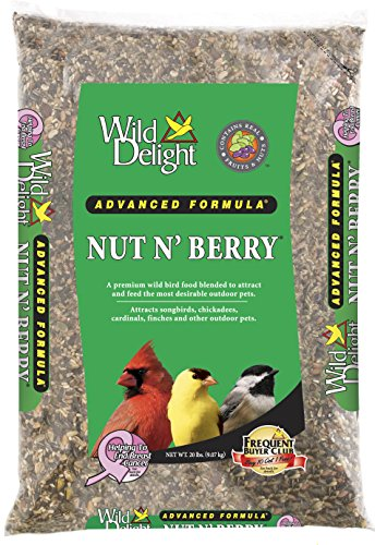- Wild Delight 366200 20-Pound Nut N-Berry Birdfood, 20 lb