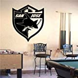 Wall Mural Vinyl Sticker Sports Logos Nhl-san Jose Sharks (S582)