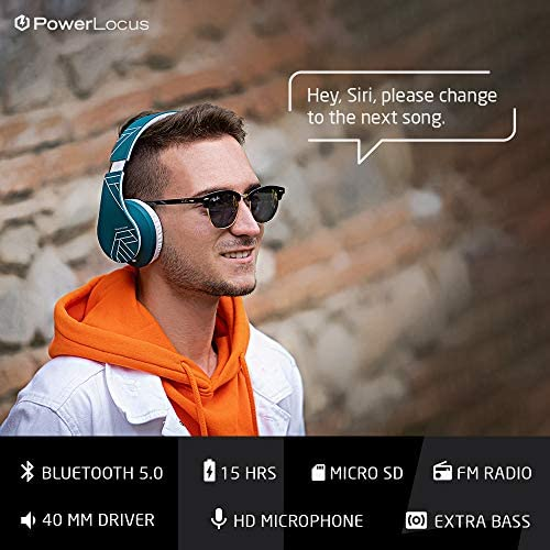 Powerlocus Bluetooth Over Ear Headphones Wireless Stereo Foldable Headphones Wireless And Wired Headsets With Built In Mic Micro Sd Tf Fm For Iphone Samsung Ipad Pc Blue White Today News Post