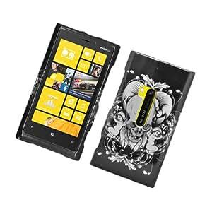 Black Gray Skull Hard Cover Case for Nokia Lumia 920