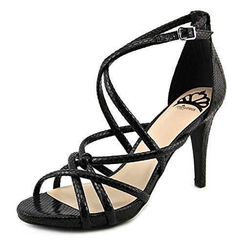 Fergalicious Womens Hannah Open Toe Ankle Strap D-Orsay Pumps, Black, Size 7.5 4