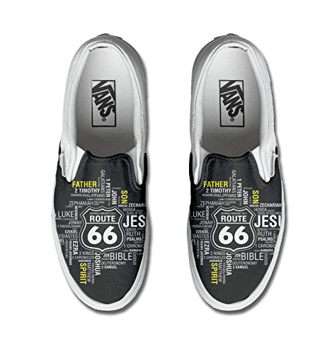 Vans Authentic Slip on, printed custom (Artesanía del producto) ROUTE 66