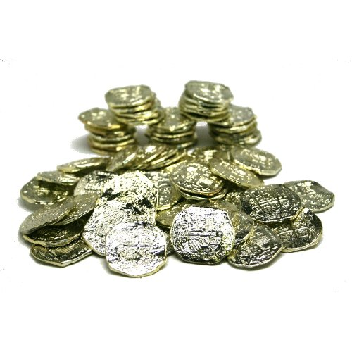 US Toy -Ancient Pirate Coins, 1 1/2 inches (1-Pack of 72)]()
