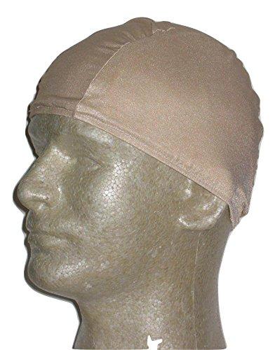 Beige Lycra Swim Cap