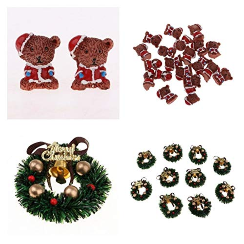 NATFUR 30 Pieces Dollhouse Miniature Little Bears Garland Party Favor Ornaments from NATFUR